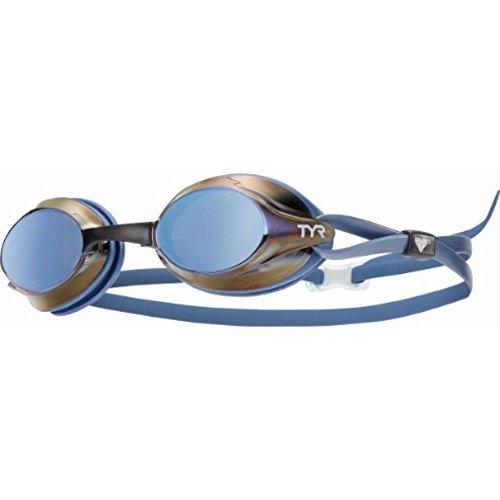 TYR Erwachsene Schwimmbrillen Velocity Metallized, Blau, One Size