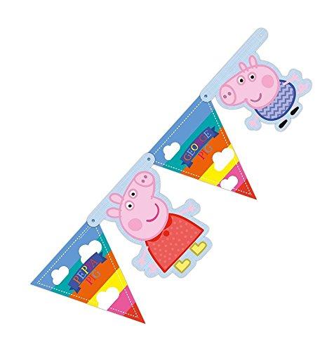 Generique - Guirlande fanions Peppa Pig 150 cm