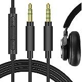 Geekria QuickFit Kabel mit Mikrofon, kompatibel mit B und O H9i, H8i, H9 3rd Gen, H8, H4, B und W PX, PX7 Kopfhörerkabel, 3,5 mm AUX Ersatz-Stereo-Kabel mit Inline-Mikrofon (Schwarz 1,5 m)