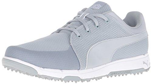PUMA Men's Grip Sport Golf Shoe, Quarry/White, 7 Medium