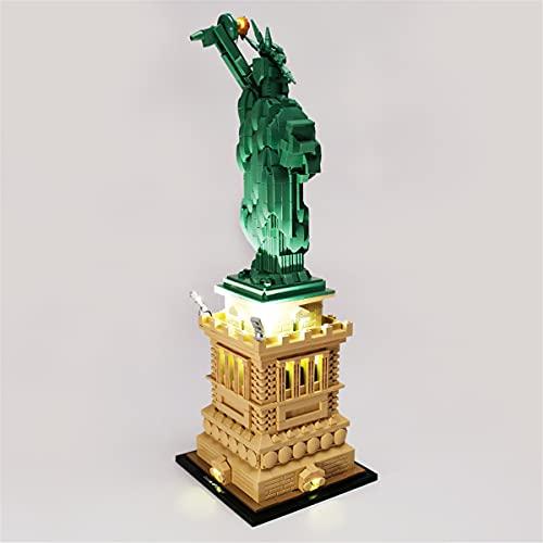 Kit De Luces Led Para Architecture Estatua De La Libertad, Compatible Con El Modelo De Bloques De ConstruccióN De Juguetes Lego 21042 (No Incluido El Modelo)