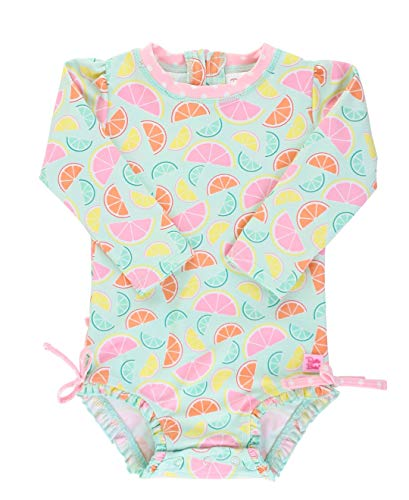 RuffleButts Baby/Toddler Girls Squeeze The Day One Piece Rash Guard - 18-24m