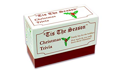 Tis The Season Christmas Trivia Game - The Classic and Original - Featuring Christmas Trivia Cards & Questions That Make For Great Holiday Games For The Entire Family (1 Pack)