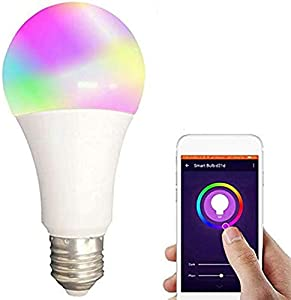 Smart WiFi Alexa Light Bulbs,SAUDIO LED RGB Color Changing Lamp BSOD 2.4G Compatible Ambient Light with Siri Alexa IFTTT and Google Home Assista