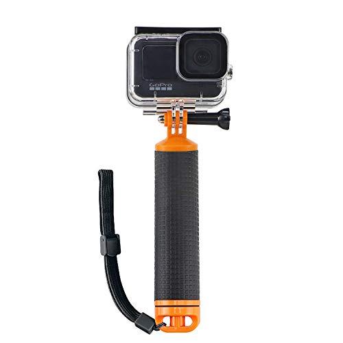 micros2u Empuñadura Flotante Impermeable para buceo. Mango compatible con GoPro Hero 8, 7, 6, 5, 4, 3, 2 y Session + otras cámaras de acción