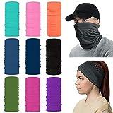 YINXN Multifunctional Bandana Face Mask Headband, Buff Neckwear Balaclava Wristband 13-in-1 Elastic Scarf Sports Magic Headwrap for Yoga Cycling Hiking Running