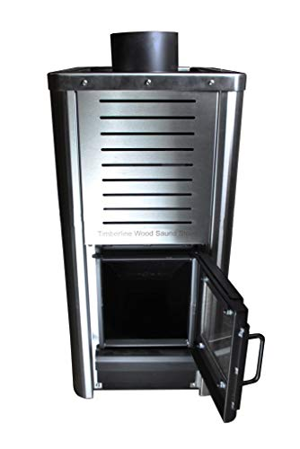 Timberline Wood Sauna Stove - Stainlesss Steel Sauna Heater - Heats 650 Cubic Feet
