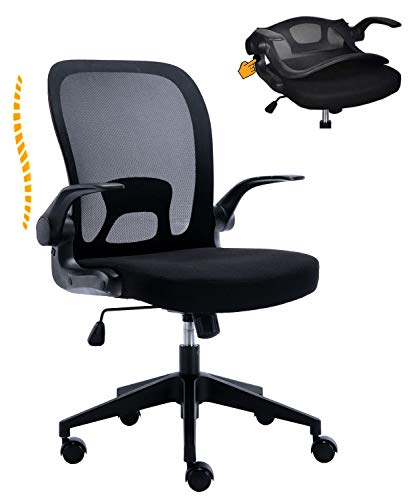 Huntor Ergonomic Office Chair Desk Chair for Home Office Work Chair Mesh Chair with Flip-up Arms Black