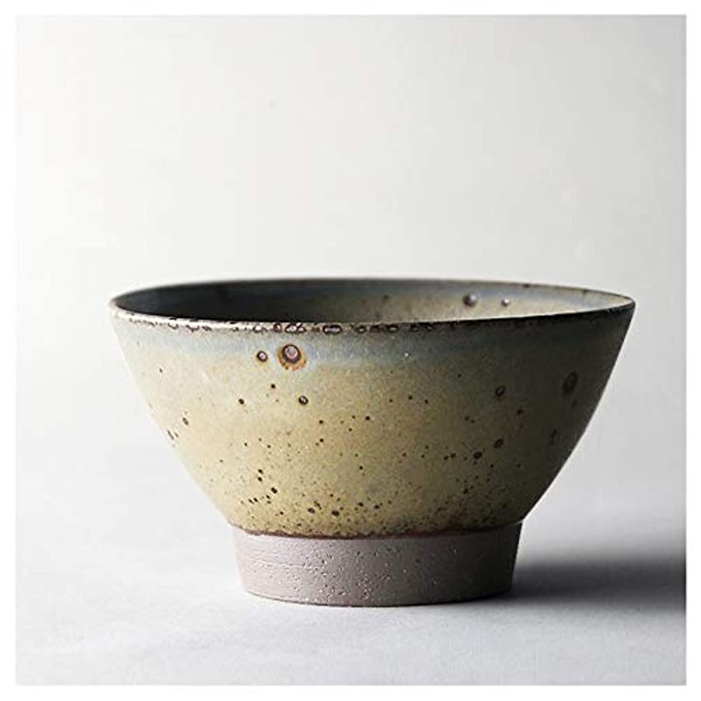 古くなった割り当てる見ました手作りの小さな陶器ボウルオーブンや電子レンジ安全、スープ、シリアル、サラダやデザートのためのヴィンテージの日本セラミック石器食器、800ミリリットル (Color : グレー)