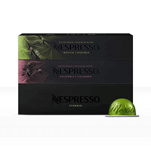 Nespresso, Café Best Seller, Paquete de 30 cápsulas de Sistema Vertuo (Incluye 10 cápsulas de cada variedad) Tamaño de taza Mug de 230 ml