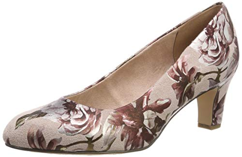 Tamaris Damen 1-1-22418-22 678 Pumps Pink (Powder Flower 678), 39 EU