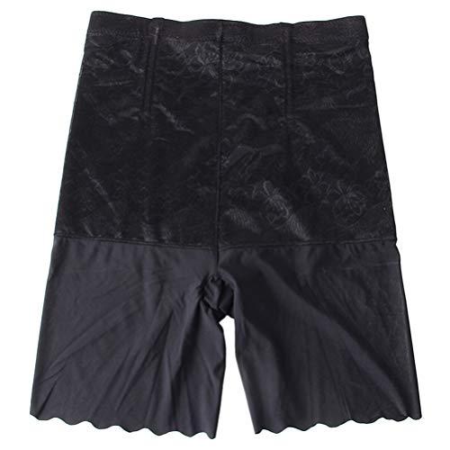 KESYOO Pantalones Cortos para Mujer Cintura Alta Muslo Más Delgado Medio Muslo Legging Pantalones Elásticos Lisos para Bicicleta de Yoga Debajo de Los Vestidos (Talla Negra 3XL 60-72. 5