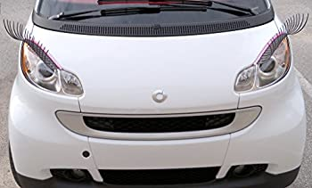 CarLashes for Smart fortwo  2007-present  - Car Headlight Eyelashes - Classic BLACK
