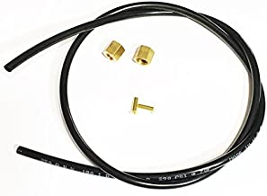 Sellerocity Kit Unloader Hose W/ 2 Nuts/Ferrule Combos 2 Insert 24 Inches of 1/4 OD Tubing Compatible With Campbell Hausfeld ST117801AV