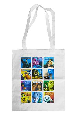 Einkaufstasche im DREAMWORKS Movie-Design (Baumwolle, plastikfrei, wiederverwendbar, mit langen Henkeln zum Umhängen) [Zubehör]