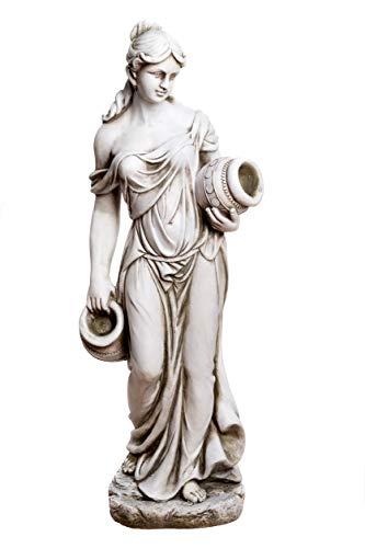 Birendy Große Statue antike Wassertägerin 115 cm hoch SMA212945FR58 Dekofigur, Statue Figur,Dekorationsfigur Polyresin Gartendekoration Gartenfigur Skulptur