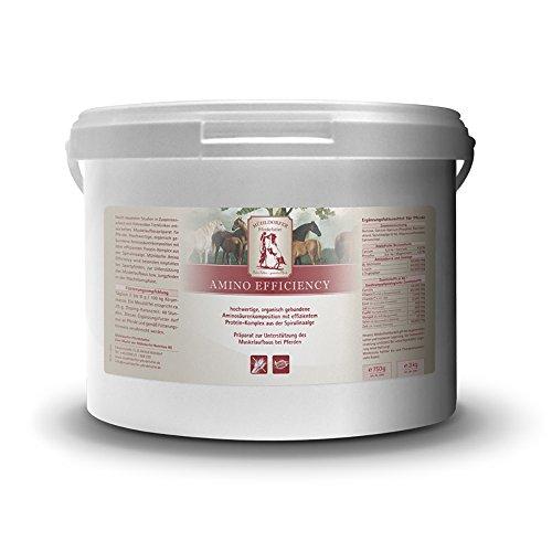 Mühldorfer Amino Efficiency, 3 kg, bevordert de spieropbouw, bevat essentiële aminozuren, vrij van drijfmiddelen, aanvullende voering voor paarden en pony's