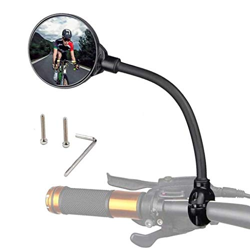 Retrovisor Bicicleta Bicicletas retrovisores espejos manillar 22-32mm-0.86-1.26 pulgadas Ciclismo Vista posterior MTB MTB Ajustación de mango de bicicleta Espejo retrovisor Espejo Retrovisor Bicicleta