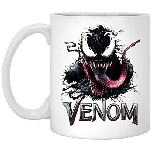 Schwarze Ve-Nom Zunge Keramik Kaffeetasse Teetasse (weiße Tasse,)
