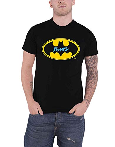 DC Comics Batman T Shirt Japanese Logo Nuevo Oficial Hombres Negro Size XXL