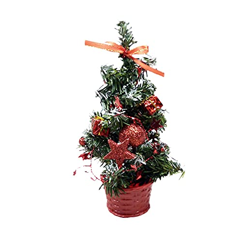 DELITLS Mini albero di Natale da tavolo albero di Natale, artigianato in PVC, mini albero di Natale...