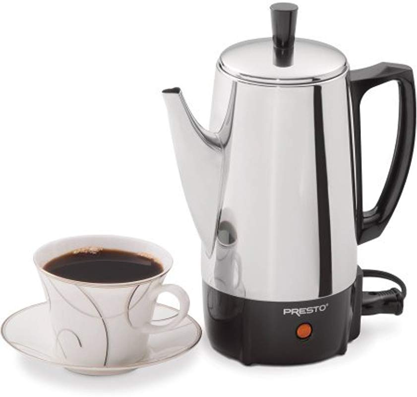 Presto 02822 6 Cup Stainless Steel Coffee Maker 2822 Silver