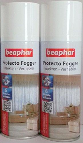 2er Set Beaphar Protecto Fogger Insektenvernebler Flohbombe je 200ml