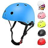 Casco de bicicleta para niños con certificado CE CPSC para niños y niñas de 3 a 13 años, cascos de bicicleta para adultos, ligeros, ajustables con almohadillas para seguridad, BMX y patineta (azul, M)
