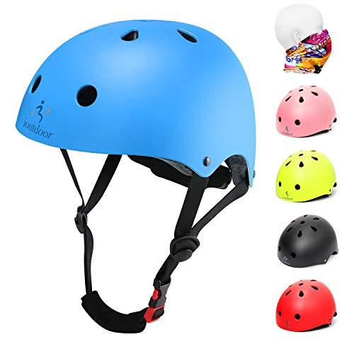 iOutdoor Fahrradhelm CE CPSC für Kinder Kleinkinder Jungen Mädchen im Alter von 3 bis 13 Jahren, Sicherheitsfahrradhelm, verstellbar, leicht, zum Radfahren, Roller, Skateboard, Blau, L