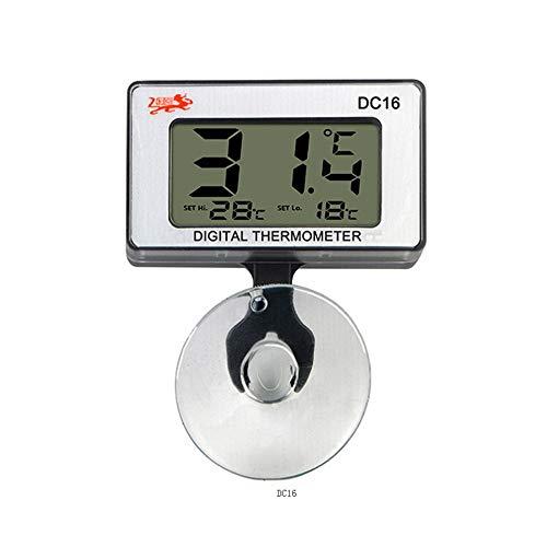 JZK Acuario termómetro Sumergible Digital con Ventosa medid