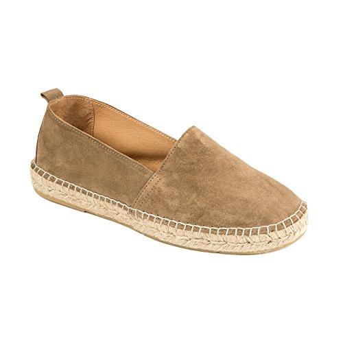 weltenmann Premium Herren Slip-on Espadrilles aus Wildleder mit Schuhbeutel, Sahara, 43, Handmade in Spain