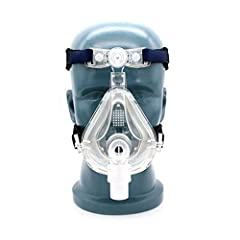 Large Size Full Face m ask. 360 degree rotary adapter, more comfortable to wear. Silica Gel.Easy to wear with a headgear. Package Include: 1x M ask, 1x Headgear The soft silicone cushion and ergonomic forehead pad with a soft and smooth feel providin...