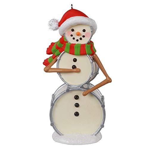 Hallmark Keepsake Christmas Ornament 2020, Cool Drummer Boy Snowman, Musical