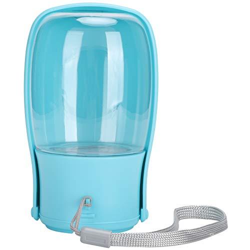 SALUTUYA Hervidor Plegable para Mascotas Botella de Agua para Mascotas de plástico de Calidad portátil Botella para Mascotas al Aire Libre para Perros y Gatos(Folding Cup Blue)