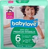 babylove Windeln Premium aktiv plus Größe 6, XXL 16-30kg, 1 x 32 St