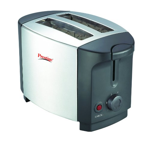 Prestige PPTSKS 750-Watt Pop-up Toaster (Silver/Black)