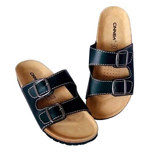Cinnea® Klassik Wellness Pantoletten Sandalen Hausschuhe Zimt-Latschen Damen und Herren (42/43 EU)