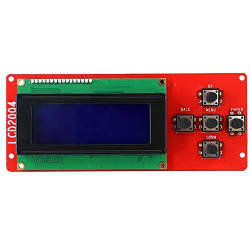 Fauge 3D Printer Accessory 2004 LCD Smart Display Screen Controller Module with Cable for Mega Shield Reprap 3D Printer A8