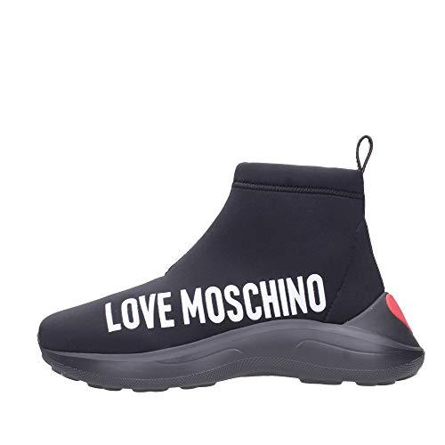 Love Moschino Love Sock Neoprene Femme Baskets Mode Noir 39 EU