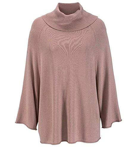 vivance Collection Sweater strukturierter Damen Rollkragen-Pullover Winter-Pullover Frteizeit-Pullover Rosa, Größe:44