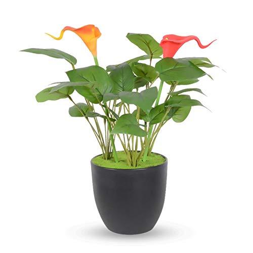 YQCH Flores Artificiales con jarrón Plantas Artificiales en ollas Cara de Cara Casa Potted Bonsa Flower Flower con plantador para Dormitorio Casa Sala de Estar Decoración-Rosa (Color : A)