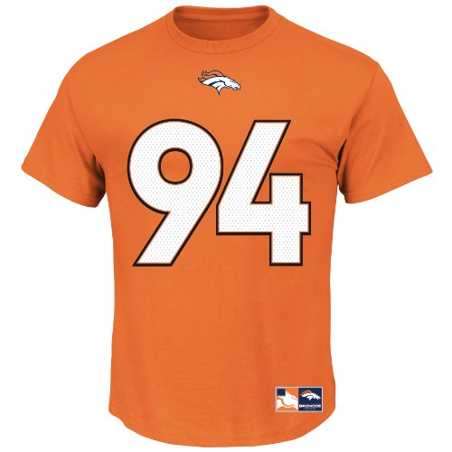 Majestic Athletic NFL Football T-Shirt Denver Broncos Demarcus Ware #94 orange Trikot Jersey Receiver (M)