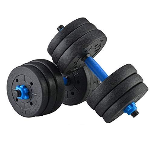 ZEL 40kg Peso Ajustable Juego de Mancuernas Ejercicio Multifuncional Fitness Barbell Set Sala Fitness Equipo de Entrenamiento 1.22 (Color : Black)