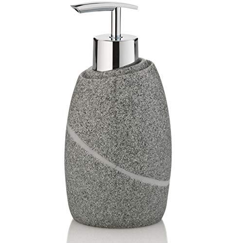 Kela Dispenser di sapone liquido Talus di Poli, in grigio, 7,5 x 7,5 x 16 cm