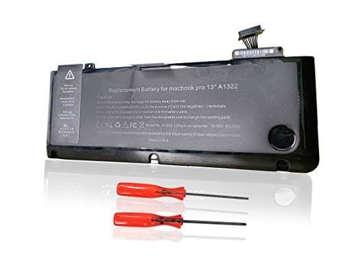 Ersetzt Laptop Akku A1322 Batterie für Apple MacBook Pro 13.3