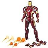 Marvel und DIY Handarbeit Spielzeug Avengers Spielzeug - Rächer Iron Man Actionfigur, Ganzkörper-Joint Aktivität - 6 Zoll, Modell Spielzeug Naturgetreue Spielzeug Ornamente