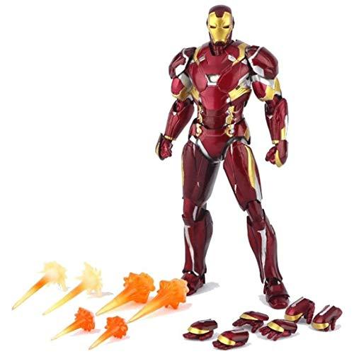 LGW Figuras de acción Avengers - Avengers Juguetes Iron Man Figura de acción, Completa Común de Actividad - 6 Pulgadas, Modelo de Juguete Gran Regalo para niños