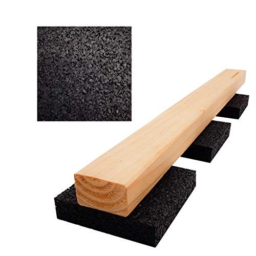 My Plast Lot de 100 20 mm, terrassenpads, terrasses Construction en granulés de Caoutchouc, Noir