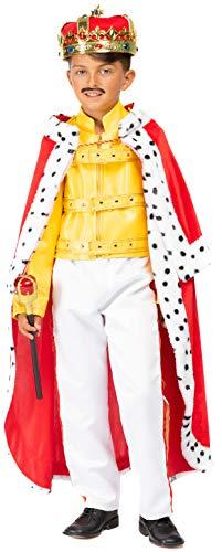 VENEZIANO Costume Carnevale da Freddy CANTANTE Rock Vestito per Ragazzo Bambino 7-10 Anni Travestimento Halloween Cosplay Festa Party 54134 XL