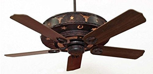 Longhorn Ceiling Fan 52' Blades with Light Kit